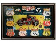 Route 66 American Nostalgia Large Framed Art Print Ready To Hang New